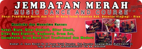 BANNER JM MUSIC & DANCE COURSE  BY.RANDI