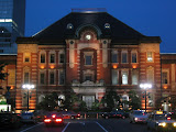 Tokyo station at night