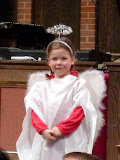 The angel in the preschool Christmas pageant! (December)