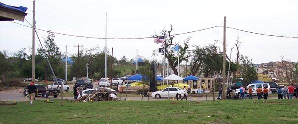 Tornado relief station