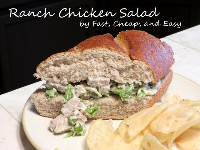 ranch chicken salad fast cheap and easy2