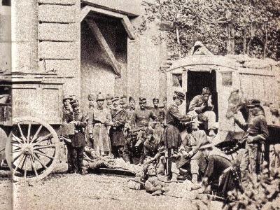 Ambulanza esercito italiano a Villa Torlonia il 20 settembre 1870