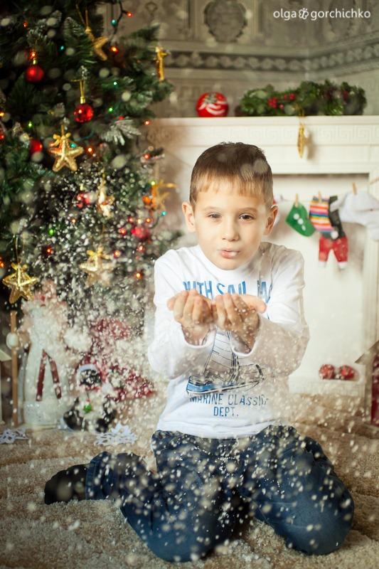 Детский новогодний фотопроект Рождественские мечты. 31. Настя и Никита-23