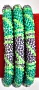 rollover bracelet green stripe purple blue