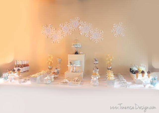 kakebord lyseblått hvitt sølv kakebord_iskrem_bursdag_is_dessertbord