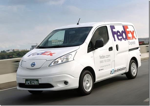 O e-NV200 é o segundo veículo comercial 100% elétrico da Nissan