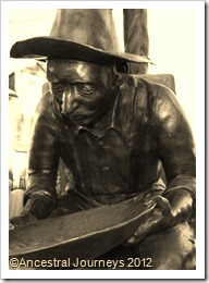 Breckenridge, Colorado, Summit County, Barney Ford, mining, miner, gold, gold panning, Blue River, history, gold rush, 1859, statue, family history, genealogy, Summit Settler, Rocky Mountains