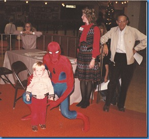 Bry, spiderman and Papa Nov 1982