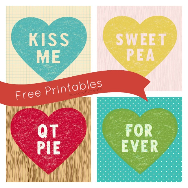 candy heart printables by sew craft create