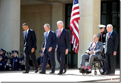 5-Living Presidents Gather for 43 Library Opening