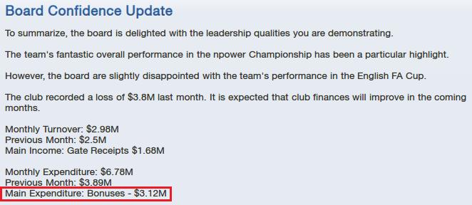 High Championship bonuses