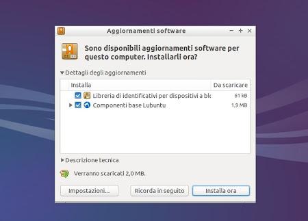 Lubuntu 14.04 - Gestore Aggiornamenti