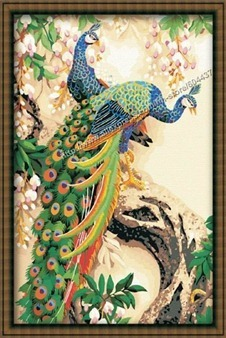 Free-Shipping-Peacock-Big-Oil-Painting-Paint-by-Numbers-90x60cm-35x24-