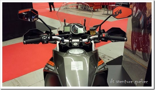 DS Aventure Quebec KTM 1190 Adventure Vue Conducteur