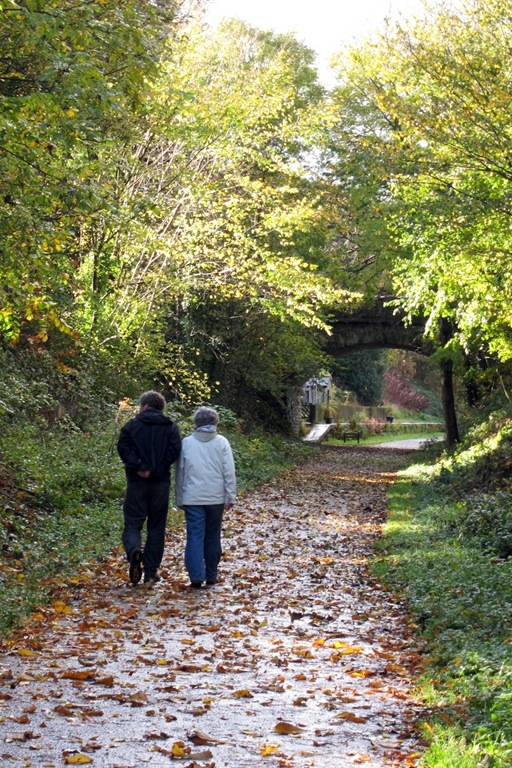 sue and dave on the monsal trail