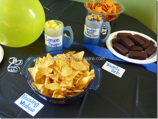 Harry Potter birthday party ideas from the Crafty Cousins (13)