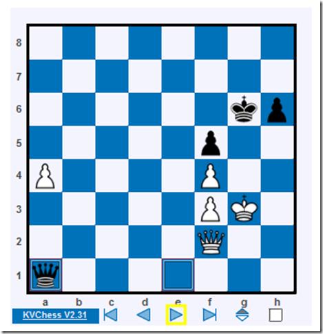 64. ... Qa1 (Karjakin vs Naiditsch, Tata Steel 2014)