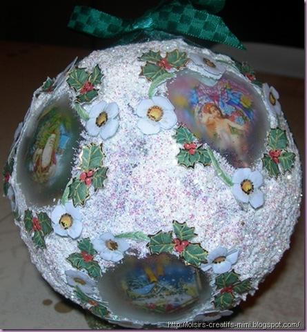 Noël, boule acrylique, images, neige, Kristall gel, sable pailleté, ruban
