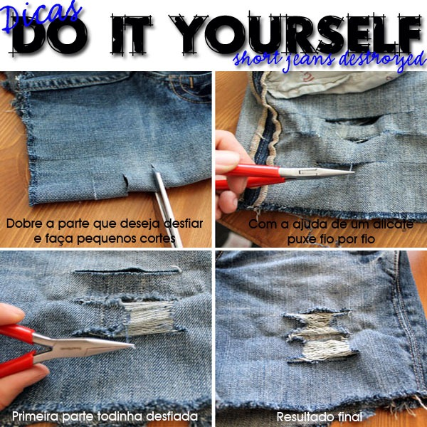 Do-it-Yourself-DIY-Short-Jeans-Destroyed-Desfiando