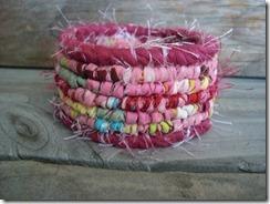 pink locker hooked bracelet