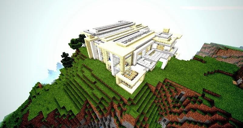 Mod para minecraft pe mapa casa moderna for Casa moderna 2015 minecraft