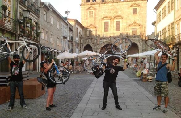 Massa Crítica em Braga, em agosto de 2013