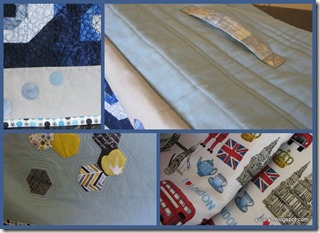 Mosaic of sewing machine cover and lining