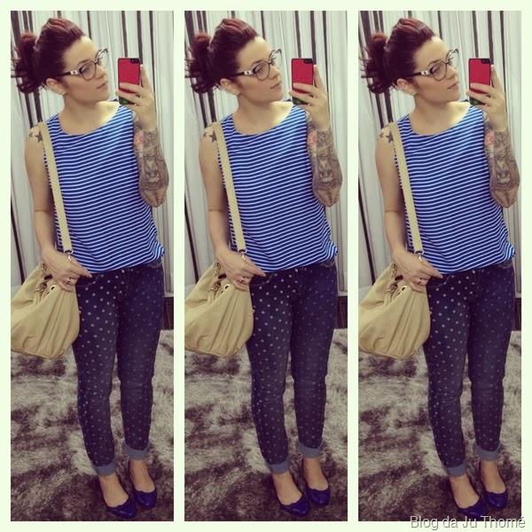 look jeans com poás e blusa listrada (2)