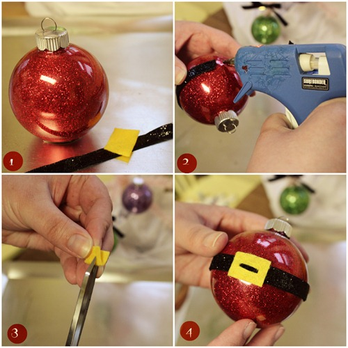 Glitter Santa Ornament Tutorial