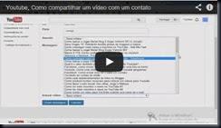 Youtube, Como compartilhar um vídeo com um contato