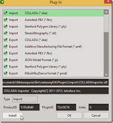 Install the plugin into Metasequoia