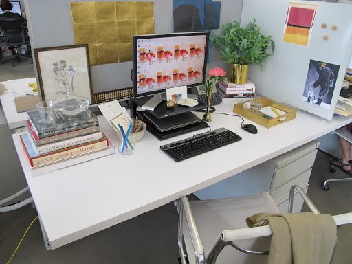 I do like a neat desk. I work better and more efficiently when the space around me is clean and calm.