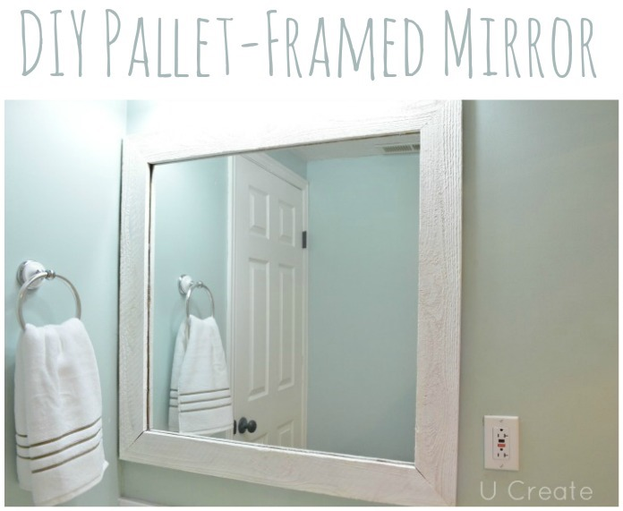 DIY Pallet Framed Mirror by UCreate