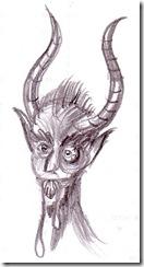 Dracu desen in creion