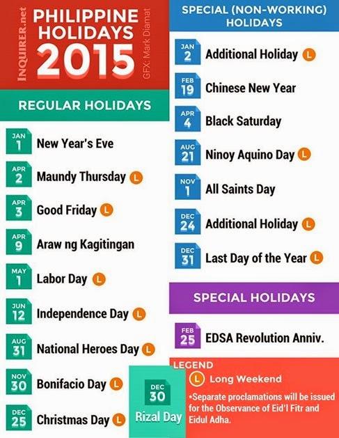 Philippine Holidays 2015 c