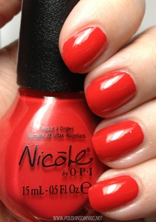 Nicole by OPI Please Red-cycle 3