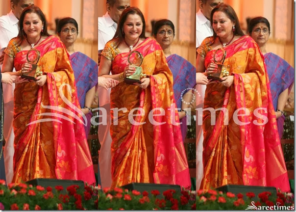 Jayaprada_Mustard_Traditional_Silk_Saree