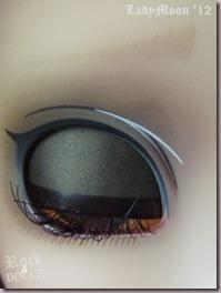 Primer plano de ojo de Seila