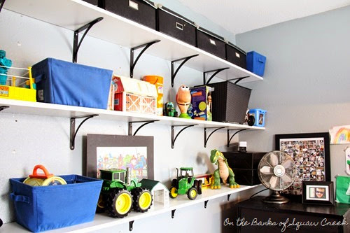 playroom shelves