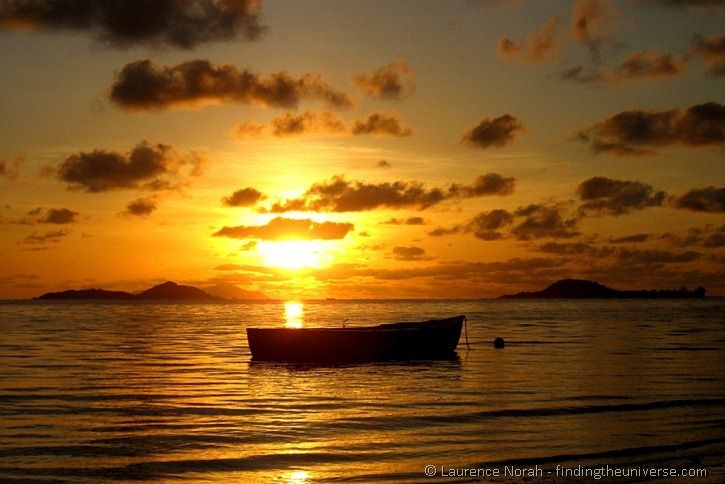 Boat silhouette Seychelles