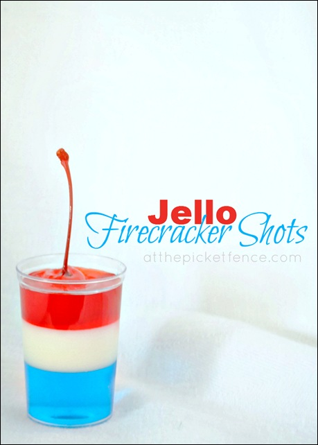Fourth of July Fire Cracker Jello Shots (kid and adult version)