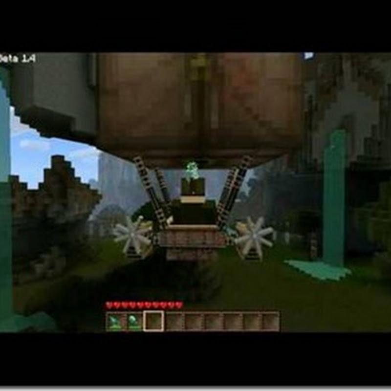Minecraft 1.2.5–Airship Mod 1.2.5 (Volare, armi)