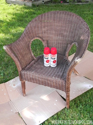 krylon dual repainting wicker chair