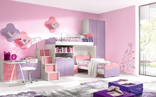 desain kamar tidur anak perempuan modern