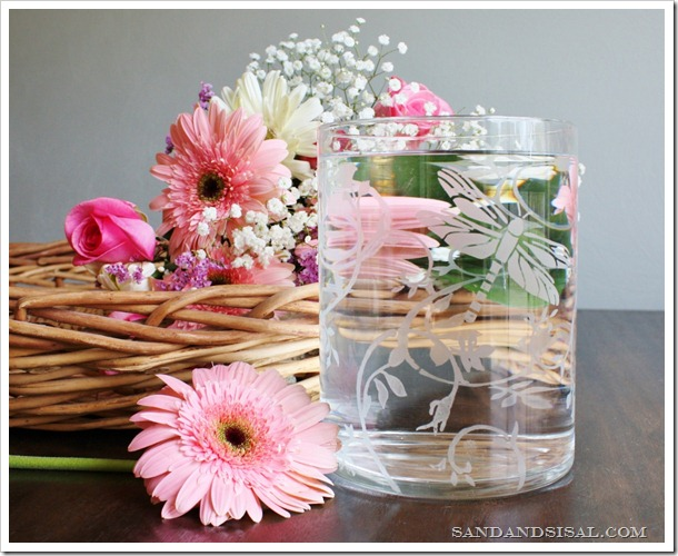 Martha Stewart Crafts Etched Glass Vase