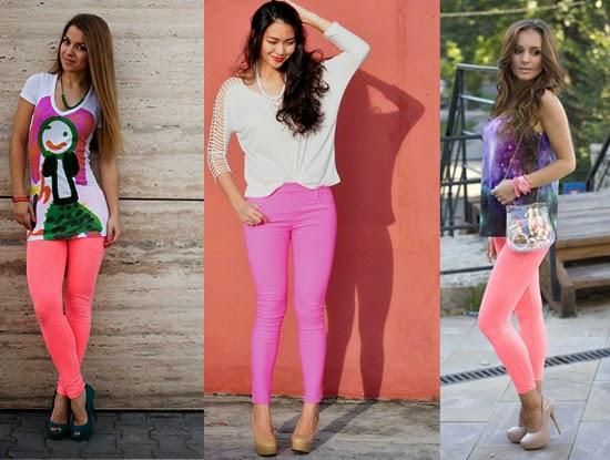 Como usar legging rosa com salto alto
