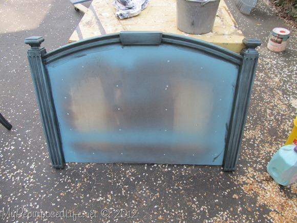 repurposed headboard chalkboard