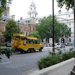 boat bus downtown london uk in London, London City of, United Kingdom