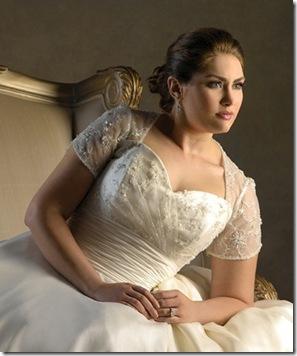 bello vestido para novias gorditas en mexico en beige