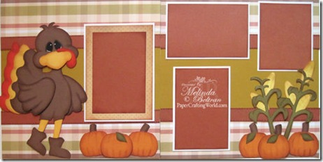 cricut turkey svg scrapbook layout idea 500